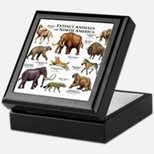 Extinct Animals of North America Keepsake Box