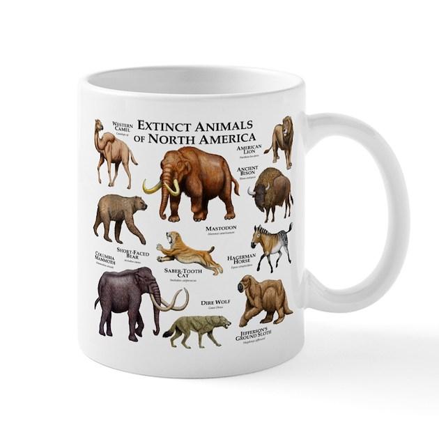 Extinct Animals of North America Mug by WildlifeArts3
