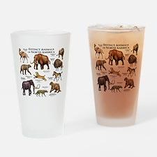 Extinct Animals of North America Drinking Glass