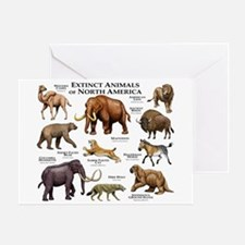 Extinct Animals of North America Greeting Card