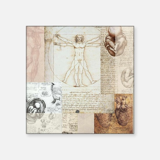"DVVitruvian Square Sticker 3"" x 3"""