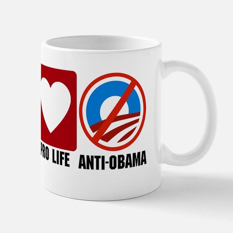 Pro God Pro Gun Anti Obama cp Mug