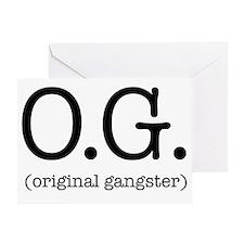 original_gangster Greeting Card