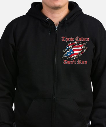 These Colors Dont Run Zip Hoodie