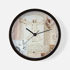 VitruvianShowerCurtain Wall Clock