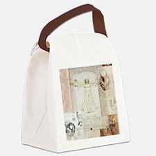 VitruvianShowerCurtain Canvas Lunch Bag