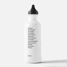 rockers_ruler_white co Water Bottle
