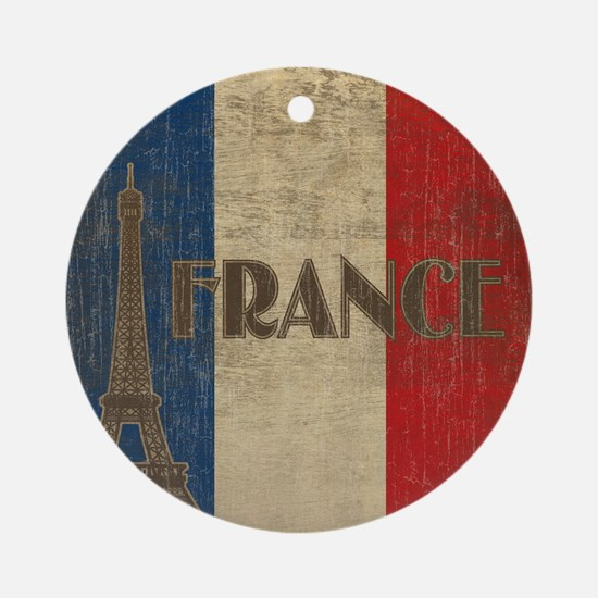france_fl_Vintage1 Round Ornament