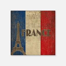 "france_fl_Vintage1 Square Sticker 3"" x 3"""