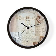 VitruvianPillow Wall Clock
