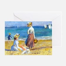 PC Renoir Beach Greeting Card
