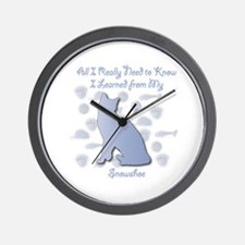 Learned Snowshoe Wall Clock