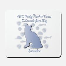 Learned Snowshoe Mousepad