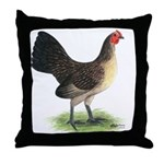Brassy Back Hen Throw Pillow