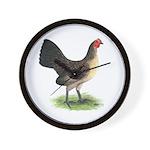 Brassy Back Hen Wall Clock