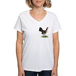 Brassy Back Hen Women's V-Neck T-Shirt