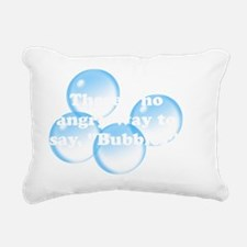 Angry Bubbles White Rectangular Canvas Pillow