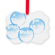 Angry Bubbles White Ornament