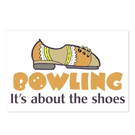 bowling humor Postcards (Package of 8)