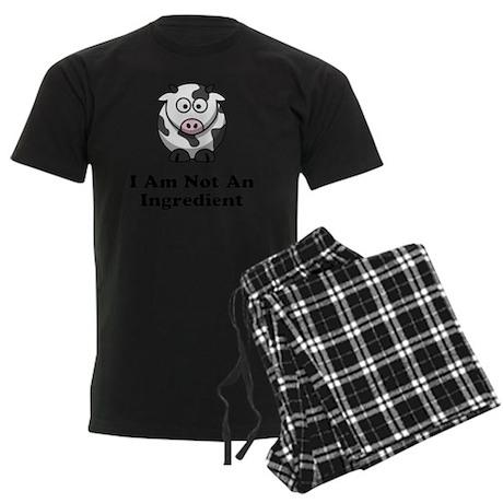 Not Ingredient Cow Black Men's Dark Pajamas