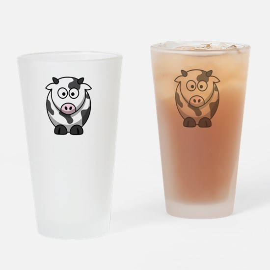 Not Ingredient Cow White Drinking Glass