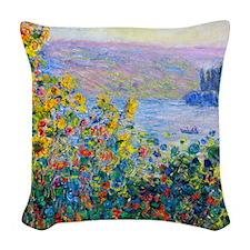 iPad Monet FloBeds Woven Throw Pillow