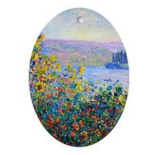 iPad Monet FloBeds Oval Ornament