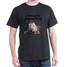 Otterly Adore Black T-Shirt