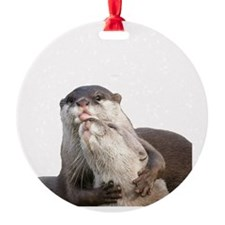 Significant Otter White Ornament