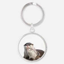 Significant Otter White Round Keychain