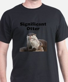 Significant Otter Black T-Shirt