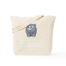 Unicorn Rhino White Tote Bag