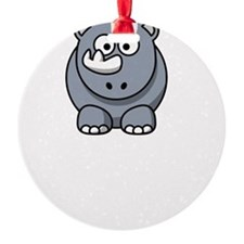 Unicorn Rhino White Ornament