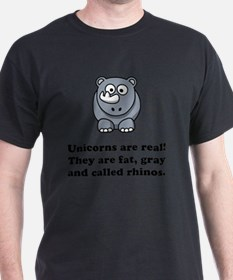 Unicorn Rhino Black T-Shirt