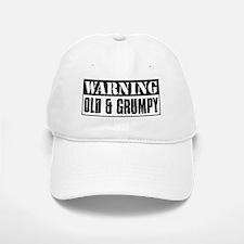 Warning Old And Grumpy Baseball Baseball Cap
