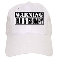 Warning Old And Grumpy Baseball Cap
