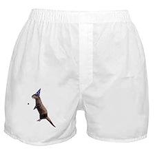 Hairy Otter White Boxer Shorts