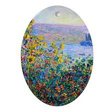 443 Monet FloBeds Oval Ornament