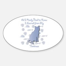 Learned Tonkinese Oval Decal