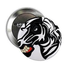 "Fight like a zebra WHITE LETTERS 2.25"" Button"