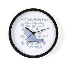 Learned Angora Wall Clock