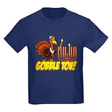 Gobble Tov Thanksgivukkah Turkey and Menorah T-Shi
