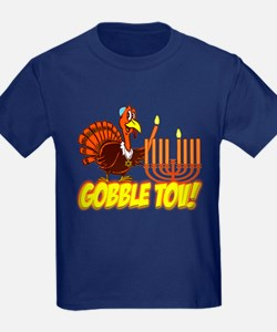 Gobble Tov Thanksgivukkah Turkey and Menorah T-Shi