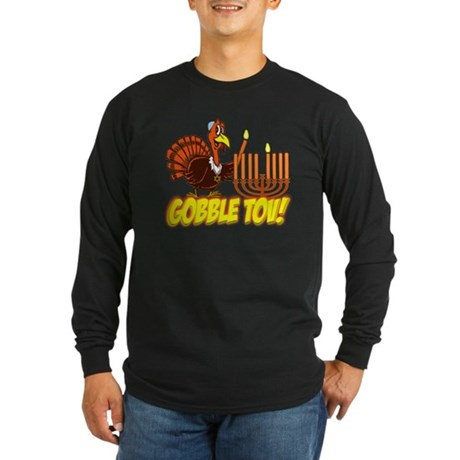 Gobble Tov Thanksgivukkah Turkey and Menorah Long