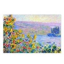 PillCase Monet FloBeds Postcards (Package of 8)