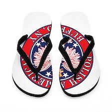 Buffalo New York Polish Flip Flops