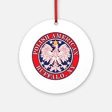 Buffalo New York Polish Ornament (Round)