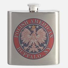 Buffalo New York Polish Flask