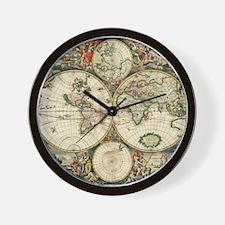 World_Map_1689 Wall Clock