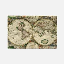 World_Map_1689 Rectangle Magnet